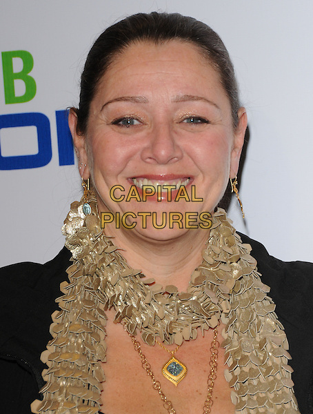 CAMRYN MANHEIM.The The Pee-Wee Herman Show Opening Night held at Club Nokia at L.A. Live in Los Angeles, California, USA..January 20th, 2010.headshot portrait gold scarf beige sequined paillettes sequins sequined .CAP/RKE/DVS.©DVS/RockinExposures/Capital Pictures.