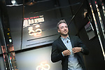 Elia Viviani (ITA) at the Presentation of the Grand Start of the 102nd edition of the Giro d'Italia 2019 held in the RAI TV studios, Milan, Italy. 31st October 2018.<br /> Picture: LaPresse/Fabio Ferrari | Cyclefile<br /> <br /> <br /> All photos usage must carry mandatory copyright credit (&copy; Cyclefile | LaPresse/Fabio Ferrari)