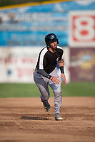 Grand Junction Rockies designated hitter Niko Decolati (16) starts towards third base during a Pioneer League game against the Missoula Osprey at Ogren Park Allegiance Field on August 21, 2018 in Missoula, Montana. The Missoula Osprey defeated the Grand Junction Rockies by a score of 2-1. (Zachary Lucy/Four Seam Images)
