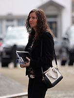 "Pictured: Nursery owner Katie Davies arrives at Swansea Crown Court. 28 March 2017<br /> Re: Toddlers at a private nursery were force fed, gagged and picked up by their wrists, Swansea Crown court has heard.<br /> Three childcare professionals are accused of cruelty at the busy nursery which had a ""rough house culture"".<br /> The whistle was blown by sixthformers on work placements at the nursery which looks after newborn infants and children up to the age of seven.<br /> ""The children concerned were left distressed and traumatised.<br /> The mother of one of the children sobbed in the public gallery after hearing how he was treated at the Bright Sparks nursery in Port Talbot, South Wales,<br /> Owner and manager Katie Davies, 32, deputy manager Christina Pinchess, 31, and and staff member Shelbie Forgan, 22, deny the child cruelty charges against them."