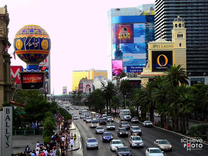 """The """"strip"""" in Las Vegas, Nevada."""