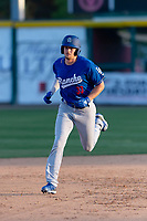 Rancho Cucamonga Quakes third baseman Devin Mann (33) during a California League game against the Visalia Rawhide on April 9, 2019 in Visalia, California. Visalia defeated Rancho Cucamonga 8-5. (Zachary Lucy/Four Seam Images)