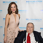 """Laura Osnes and Phillip J. Smith during The """"Mr. Abbott"""" Award 2019 at The Metropolitan Club on 3/25/2019 in New York City."""