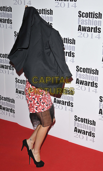 LONDON, ENGLAND - SEPTEMBER 01: Laura Whitmore attends the Scottish Fashion Awards 2014, 8 Northumberland Avenue, Northumberland Avenue, on Monday September 01, 2014 in London, England, UK. <br /> CAP/CAN<br /> &copy;Can Nguyen/Capital Pictures