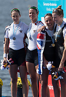 Sarasota. Florida  USA left. USA W2X. Bow. Meghan O'LEARY and Ellen TOMEK. Silver Medalist. Sunday Final's Day at the  2017 World Rowing Championships, Nathan Benderson Park<br /> <br /> Sunday  01.10.17   <br /> <br /> [Mandatory Credit. Peter SPURRIER/Intersport Images].<br /> <br /> <br /> NIKON CORPORATION -  NIKON D500  lens  VR 500mm f/4G IF-ED mm. 200 ISO 1/1000/sec. f 7.1