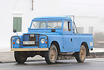 Spain, Canary Islands, Lanzarote. Land Rover Santana 109 4-cyl Truck Cab. --- No releases available. Automotive trademarks are the property of the trademark holder, authorization may be needed for some uses.
