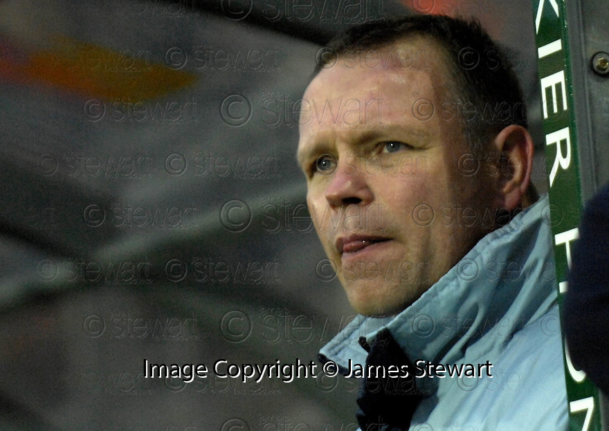 10/02/2007       Copyright Pic: James Stewart.File Name : sct_jspa16_falkirk_v_motherwell.FALKIRK MANAGER JOHN HUGHES WATCHES HIS TEAM SNATCH DEFEAT FROM THE JAWS OF VICTORY....James Stewart Photo Agency 19 Carronlea Drive, Falkirk. FK2 8DN      Vat Reg No. 607 6932 25.Office     : +44 (0)1324 570906     .Mobile   : +44 (0)7721 416997.Fax         : +44 (0)1324 570906.E-mail  :  jim@jspa.co.uk.If you require further information then contact Jim Stewart on any of the numbers above.........