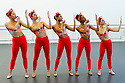 London, UK. 23.04.2015. New English Ballet Theatre rehearses in the studio at Rambert, for their forthcoming production. The piece being rehearsed is MAD WOMEN, choreographed by Valentino Zucchetti. The dancers are: Alexandra Cameron-Martin<br /> Arianna Mariachi<br /> Chantelle Gotobed<br /> Chlo&eacute; Lopes Gomes<br /> Emma Lucibello. Photograph &copy; Jane Hobson.