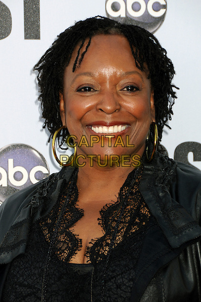 "L. SCOTT CALDWELL.""Lost"" Live: The Final Celebration held at UCLA's Royce Hall, Westwood, California, USA..May 13th, 2010.headshot portrait black lace gold hoop earrings.CAP/ADM/BP.©Byron Purvis/AdMedia/Capital Pictures."