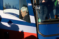 Former Speaker of the House Newt Gingrich and his wife Callista arrive for a campaign event at BAE Systems, a major defense contractor, in Nashua, New Hampshire, on Jan. 9, 2012.  Gingrich is seeking the 2012 Republican presidential nomination.
