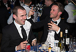 St Johnstone FC Scottish Cup Celebration Dinner at Perth Concert Hall...01.02.15<br /> Dave Mackay and Chris Millar enjoy their evening<br /> Picture by Graeme Hart.<br /> Copyright Perthshire Picture Agency<br /> Tel: 01738 623350  Mobile: 07990 594431