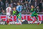 10.02.2019, Weser Stadion, Bremen, GER, 1.FBL, Werder Bremen vs FC Augsburg, <br /> <br /> DFL REGULATIONS PROHIBIT ANY USE OF PHOTOGRAPHS AS IMAGE SEQUENCES AND/OR QUASI-VIDEO.<br /> <br />  im Bild<br /> <br /> 1:0 Milot Rashica (Werder Bremen #11) gegen Gregor Kobel (FC Augsburg #40)<br /> Konstantinos Stafylidis (FC Augsburg #03)<br /> Rani Khedira (FC Augsburg #08)<br /> Maximilian Eggestein (Werder Bremen #35)<br /> <br /> jubel <br /> Foto © nordphoto / Kokenge