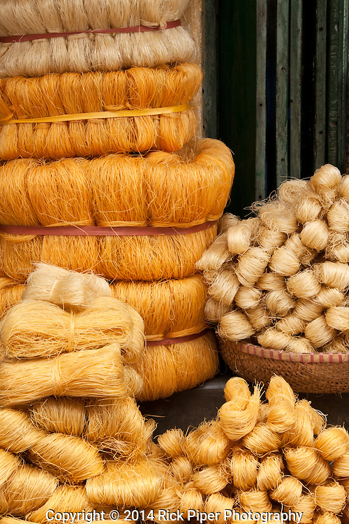 Dried rice noodles for sale in Hang Giay St, Hanoi Old Quarter, Viet Nam