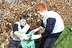 St Mary's students, Conor Mimna and Jack Clarke taking part in National Spring Clean Week...(Photo credit should read Jenny Matthews www.newsfile.ie)....This Picture has been sent you under the conditions enclosed by:.Newsfile Ltd..The Studio,.Millmount Abbey,.Drogheda,.Co Meath..Ireland..Tel: +353(0)41-9871240.Fax: +353(0)41-9871260.GSM: +353(0)86-2500958.email: pictures@newsfile.ie.www.newsfile.ie.