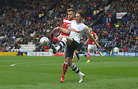Preston North End's Ben Davies battles with Bristol City's Adam Webster<br /> <br /> Photographer Mick Walker/CameraSport<br /> <br /> The EFL Sky Bet Championship - Preston North End v Bristol City - Saturday 2nd March 2019 - Deepdale Stadium - Preston<br /> <br /> World Copyright © 2019 CameraSport. All rights reserved. 43 Linden Ave. Countesthorpe. Leicester. England. LE8 5PG - Tel: +44 (0) 116 277 4147 - admin@camerasport.com - www.camerasport.com