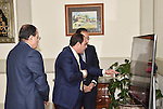 Egyptian President Abdel Fattah al-Sisi meets with Mustafa Madbouli, Housing Minister in Cairo, Egypt on February  27, 2017. Photo by Egyptian President Office