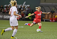 Portland, Oregon - Sunday September 11, 2016: Portland Thorns FC midfielder Amandine Henry (28) passes the ball during a regular season National Women's Soccer League (NWSL) match at Providence Park.