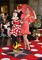 Katy Perry & Minnie Mouse at the Hollywood Walk of Fame Star Ceremony honoring Disney character Minnie Mouse, Los Angeles, USA 22 Jan. 2018<br /> Picture: Paul Smith/Featureflash/SilverHub 0208 004 5359 sales@silverhubmedia.com