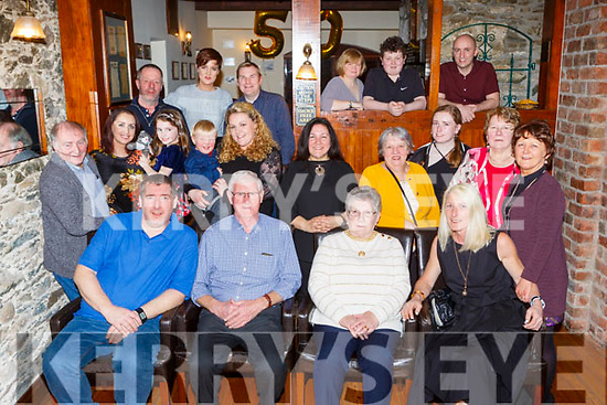 Pj and Eileen (nee Buckley, Shrone, Rathmore) O'Reilly celebrated their 50th wedding anniversary with family and friends  in the Killarney heights hotel on Saturday night