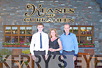ANNIVERSARY: Peter, Julia and John Keane celebrating the 20th anniversary of Keane's of Curraheen on Saturday...