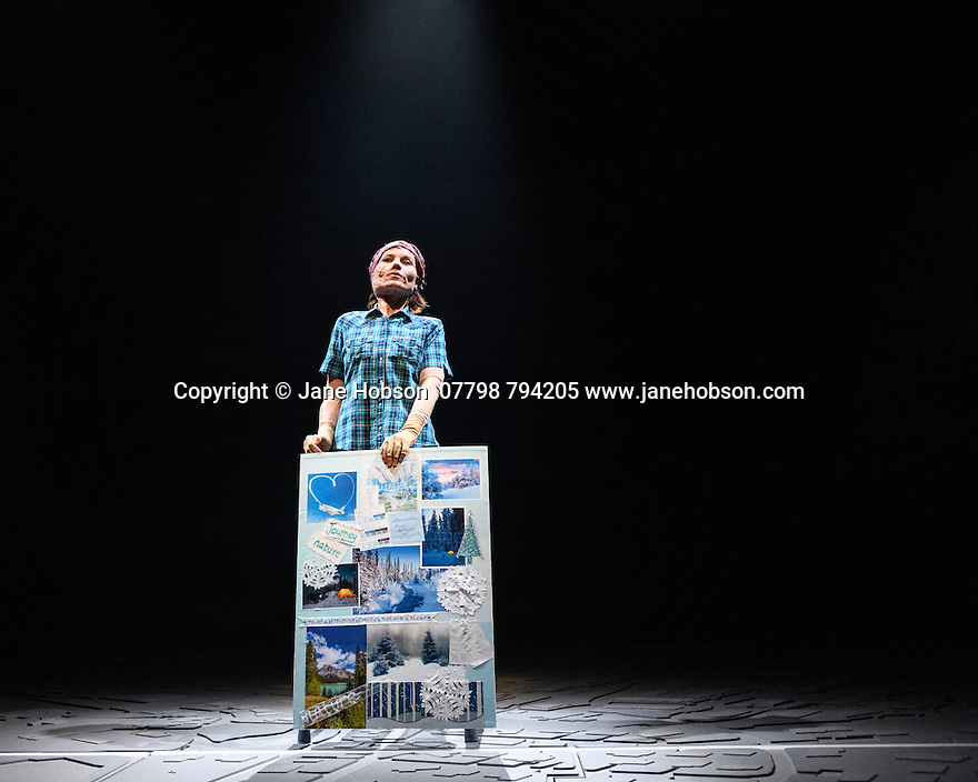 London, UK. 28.02.2017. UGLY LIES THE BONE, by Lindsey Ferrentino, opens in the Lytterlton at the National theatre. Directed by Indhu Rubasingham, with set design by Es Devlin, lighting design by Oliver Fenwick, video design by Luke Halls and costume design by Johanna Coe. Picture shows: Kate Fleetwood (Jess). Photograph © Jane Hobson.