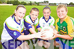 KICKING AROUND: At the VHI GAA Cu?l Camp in Keel last week were, l-r: Zeta Ashe, Cathal Costello, Eilish Murphy, Aaron Murphy.