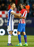 Atletico de Madrid's Filipe Luis (r) and Real Sociedad's Sergio Canales during La Liga match. April 4,2017. (ALTERPHOTOS/Acero)