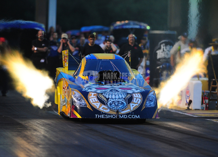 May 13, 2011; Commerce, GA, USA: NHRA funny car driver Jim Head during qualifying for the Southern Nationals at Atlanta Dragway. Mandatory Credit: Mark J. Rebilas-