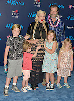 "HOLLYWOOD, CA - NOVEMBER 14: Tori Spelling, Liam McDermott, Stella McDermott, Dean McDermott, Finn McDermott and Hattie McDermott attend the AFI FEST 2016 Presented By Audi - Premiere Of Disney's ""Moana"" at the El Capitan Theatre in Hollywood, California on November 14, 2016. Credit: Koi Sojer/Snap'N U Photos/MediaPunch"