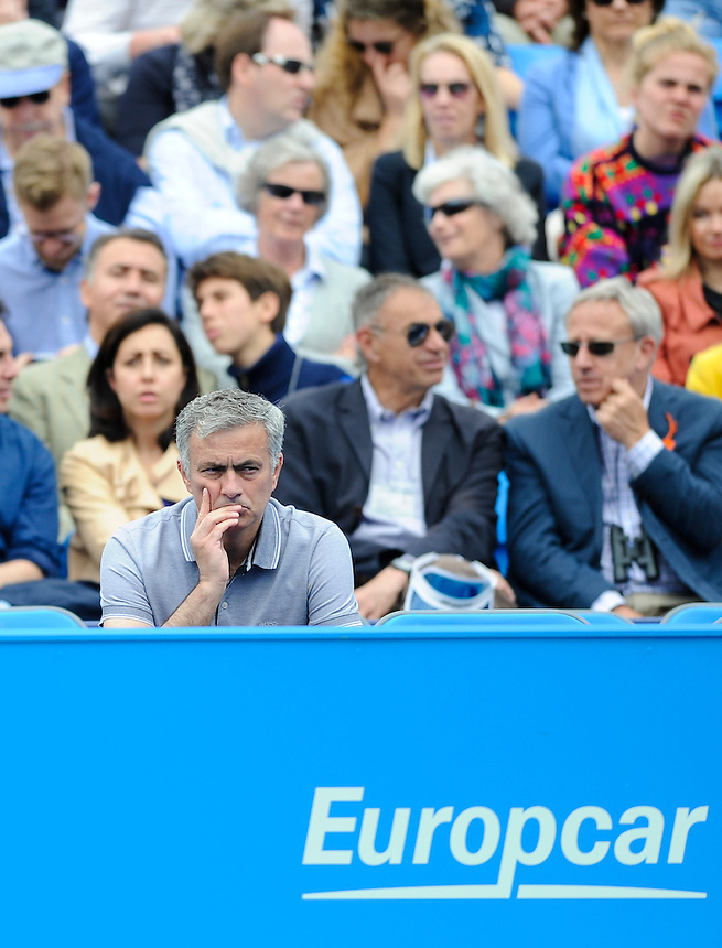 Chelsea manager Jose Mourinho on Semi Final day at Queen's Club<br /> <br /> Photographer Ashley Western/CameraSport<br /> <br /> Tennis - ATP 500 World Tour - AEGON Championships- Day 6 - Saturday 20th June 2015 - Queen's Club - London <br /> <br /> &copy; CameraSport - 43 Linden Ave. Countesthorpe. Leicester. England. LE8 5PG - Tel: +44 (0) 116 277 4147 - admin@camerasport.com - www.camerasport.com