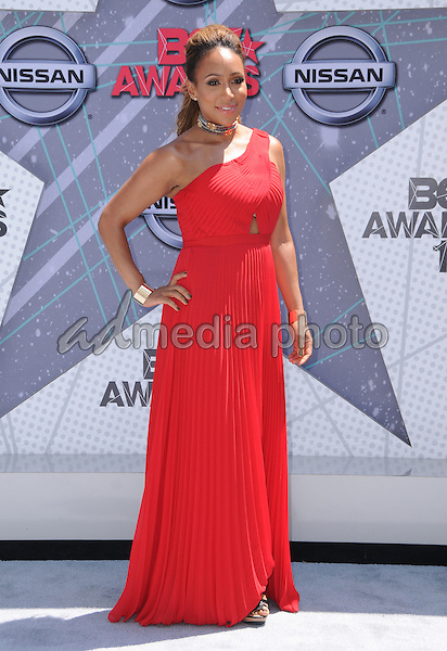 26 June 2016 - Los Angeles. Mara Schiavocampo. Arrivals for the 2016 BET Awards held at the Microsoft Theater. Photo Credit: Birdie Thompson/AdMedia