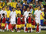 12 September 2007: Mexico's Rafael Marquez (4), Jaime Correa (8), Nery Castillo (10), and Juan Carlos Cacho (9). The Brazil Men's National Team defeated the Mexico Men's National Team 3-1 at Gillette Stadium in Foxborough, Massachusetts in an international friendly.