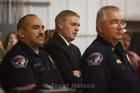 After a public meeting, the Stockton City Council voted to reinstate officer Joshua Rowell Thursday, October 29 2009. Rowell had been suspended by the town's Mayor after citing the Mayor's son.