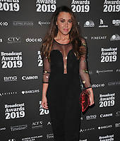 Michelle Heaton at the Broadcast Awards 2019, Grosvenor House Hotel, Park Lane, London, England, UK, on Wednesday 06th February 2019.<br /> CAP/CAN<br /> &copy;CAN/Capital Pictures