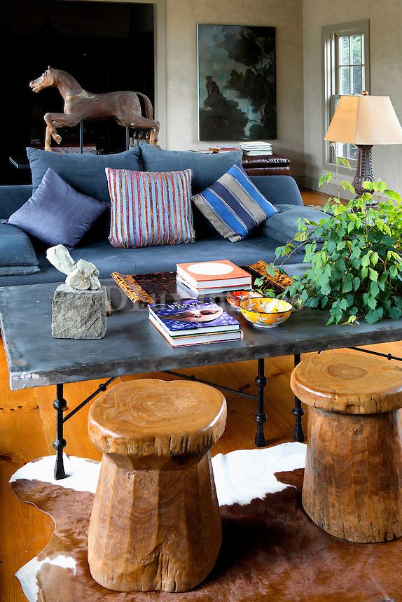 contemporary blue sofa