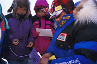 M Buser Signs Autographs White Mountain Iditarod AK 99 for Kids