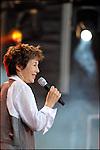 Le chanteuse et interprète Jane Birkin en concert au Festival des Francofolies de la Rochelle 2009 / 17 Charente Maritime / Rég. Poitou Charentes / The singer Jane Birkin at the Francofolies music festival of La Rochelle / France