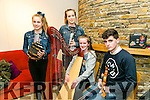 at the Macalla na hÉireann concert tour hosted by Kerry CCE in Siamsa Tire on Tuesday were Sorcha Cahill, Ali Cahill, Ruby Falvey and Ruby Falvey from Ballyseede