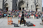 The large crowd who turned out at the Droichead Arts Festival. Photo:Colin Bell/pressphotos.ie