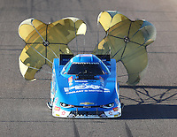 Feb 24, 2017; Chandler, AZ, USA; NHRA funny car driver John Force during qualifying for the Arizona Nationals at Wild Horse Pass Motorsports Park. Mandatory Credit: Mark J. Rebilas-USA TODAY Sports