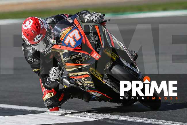 Taylor MACKENZIE (77) of the Pirelli National Superstock 1000 Championship in association with Black Horse Bathams Racing (BMW) team during Free Practice 1 at Round 9 of the 2018 British Superbike Championship at Silverstone Circuit, Towcester, England on Friday 7 September 2018. Photo by David Horn.