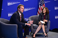 "Washington, DC - June 5, 2018: Montana Governor Steve Bullock participates in a discussion, moderated by Neera Tanden, on ""Money in Politics"" at the Center for American Progress in Washington, D.C. June 5, 2018.  (Photo by Don Baxter/Media Images International)"