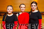Caoimhe Dowling, Mikala Mulvihill and Emma Ryan from the Tenacity School of Dancing taking part in the dance competition in the Brandon Hotel on Saturday.