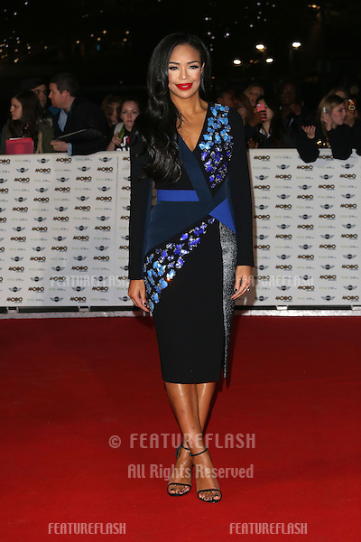 Sarah-Jane Crawford arriving for The MOBO Awards 2014 held at Wembley Arena, London. 22/10/2014 Picture by: James Smith / Featureflash