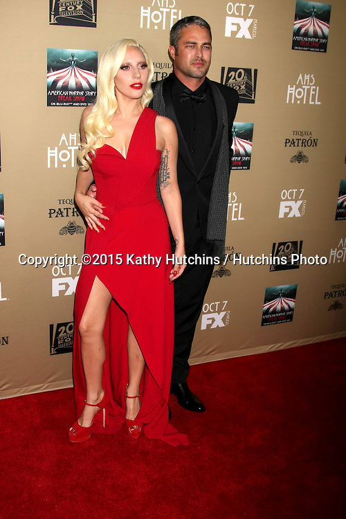 "LOS ANGELES - OCT 3:  Lady Gaga, Taylor Kinney at the ""American Horror Story: Hotel"" Premiere Screening at the Regal 14 Theaters on October 3, 2015 in Los Angeles, CA"