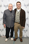 John Kander and Greg Pierce attends the photocall for the Vineyard Theatre production of 'Kid Victory' at Ripley Grier on January 5, 2017 in New York City.