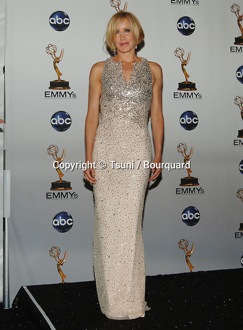 Felicity Huffman    - <br /> 60th Annual Emmys Awards at the Nokia Theatre in Los Angeles<br /> <br /> full length<br /> eye contact