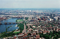 Boston:  View from the Hancock--north end of Charles River.  Photo '88.