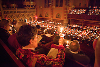 Christmas eve service candles, Old South Church, Boston, MA