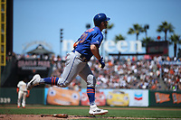 SAN FRANCISCO, CA - JULY 20:  Pete Alonso #20 of the New York Mets hits a home run against the San Francisco Giants during the game at Oracle Park on Saturday, July 20, 2019 in San Francisco, California. (Photo by Brad Mangin)